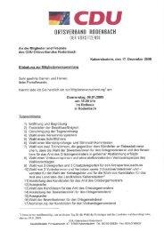 CDU Ortsverband Rodenbach
