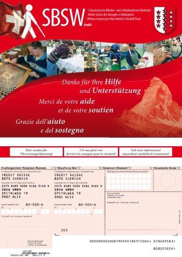 SBSWzahlscheinA4_110.. - Schweizerische Blinden- und ...