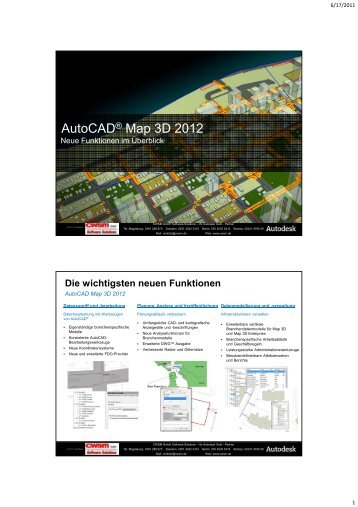 Autocad® Map 3D 2012 - CWSM Gmbh