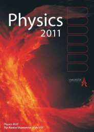 Theoretical Physics - Physics at Lancaster University