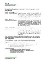 Erwerbsausfall und anderer Aufwand bei Nieren-, Leber ... - bei SVK