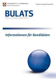 Informationen für Kandidaten - BULATS