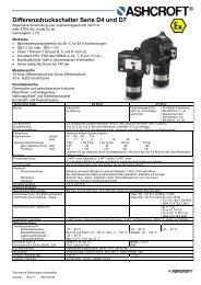 Datenblatt D4/D7 - Ashcroft Instruments GmbH