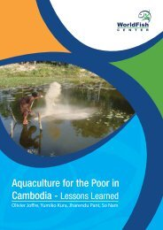 Aquaculture for the Poor in Cambodia - World Fish Center