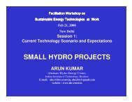 small hydro projects - SETatWork - Sustainable Energy Technology ...