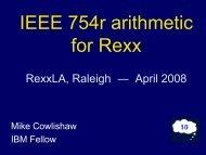 PDF of slides - The Rexx Language Association