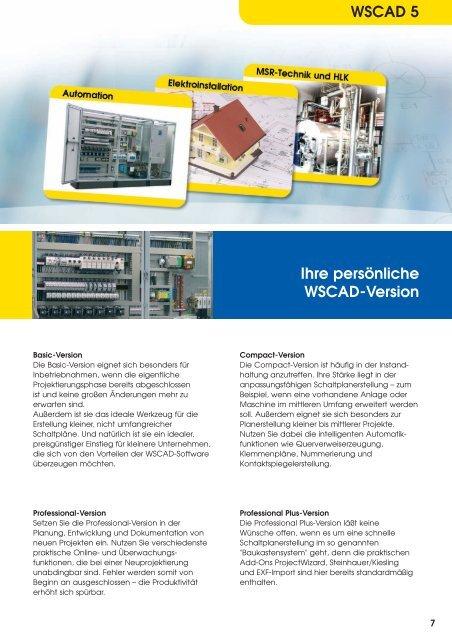 WSCAD - Produkte und Services