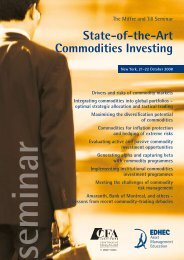 State-of-the-Art Commodities Investing - EDHEC-Risk