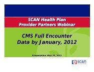 CMS Full Encounter Data by January, 2012 CMS Full Encounter ...