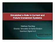 Simulation's Role in Current and Future Unmanned Systems ...