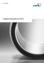 Halbjahresfinanzbericht 2013 - KSB