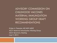 ACCV Maternal Immunization Working Group Draft ... - HRSA