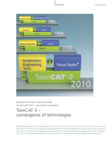 TwinCAT 3 – convergence of technologies - PC-Control