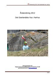 Hent årsberetning for 2012 - De grønlandske huse i Danmark