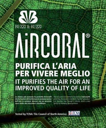 Visualizza PDF scheda tecnica AirCoral - Buzzi & Buzzi