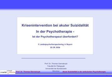 Prof. Dr. Thomas Giernalczyk - PTK Bayern