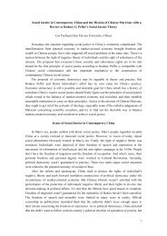 Peffer's Theory of Justice and Marxism in the Context of Chinese ...