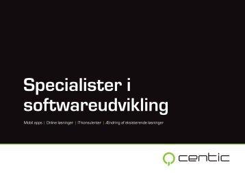 Specialister i softwareudvikling