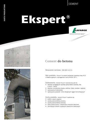 Karta produktowa cementu Ekspert - Lafarge