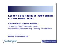 London's Bus Priority at Traffic Signals in a Worldwide Context