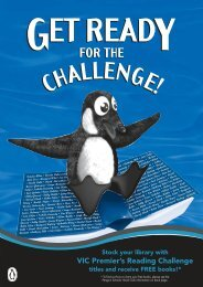 VIC Premier's Reading Challenge - Penguin Books Australia