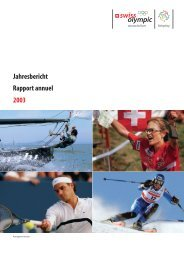 Jahresbericht Rapport annuel 2003 - Swiss Olympic