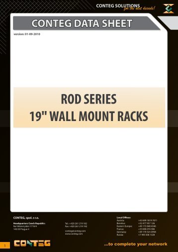 "ROD SERIES 19"" WALL MOUNT RACKS - Conteg"