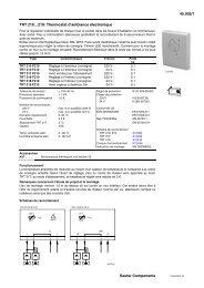 Ecos Boîtier d/'ambiance pour régulateur individuel Sauter EYB254 F201 EYB254F201