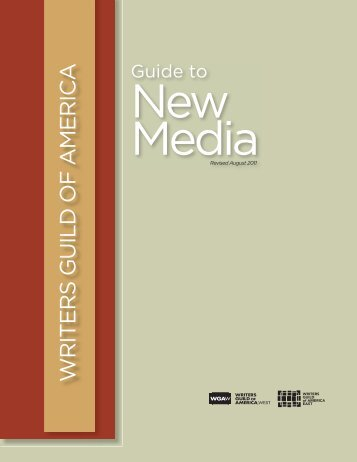 New Media GUIDE 2011.indd - Writers Guild of America, West