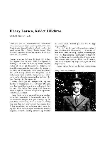 Henry Larsen, kaldet Lillebror - Kolding Kommune
