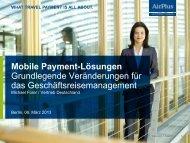 Michael Fürer: Mobile Payment-Lösungen - ITB Berlin Kongress