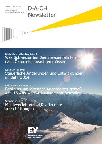 D-A-CH News – Ausgabe 1. Quartal | 2014 - Schweiz