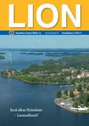 Lion-lehti 3/2013, sivu 13 - Suomen Lions-liitto ry