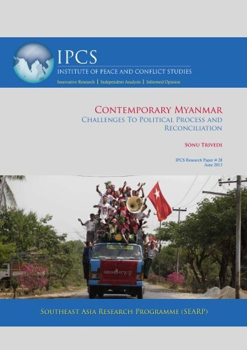 Contemporary Myanmar - Institute of Peace and Conflict Studies