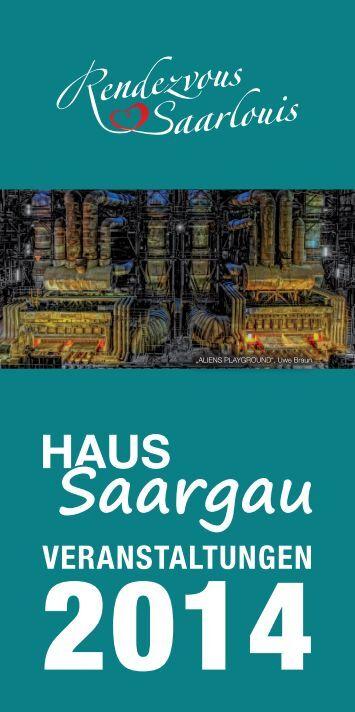 Veranstaltungen Naturpark-Infostelle Haus Saargau