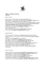 Kinder- en Jeugdjury Vlaanderen 2009-2010 Groep 1 (-6 jaar ...