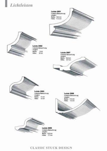 Lichtleisten - Classic Stuck Design