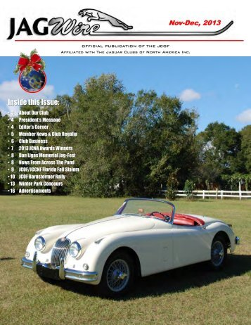 Inside this Issue - Jaguar Clubs of North America
