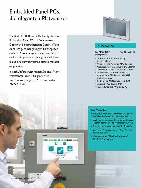 Mehr Automatisierung im Blick HMIs und Industrie-PCs