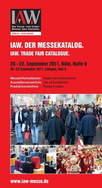 IAW Messe Herbst 2011 - IAW-Messekatalog