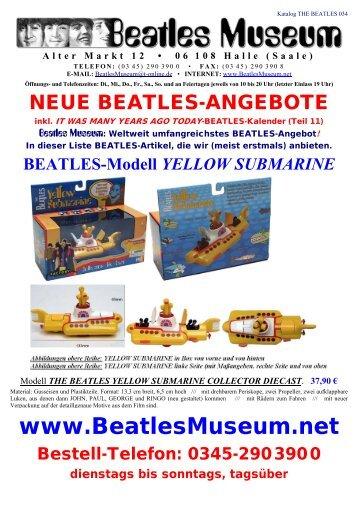 Beatles Museum - Katalog 34 mit Hyperlinks