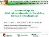 Zusammenhänge von Arbeitszeiten und emotionaler Erschöpfung ...