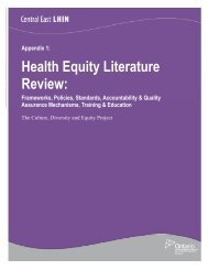 CDE Appendix 1 Literature Review - Central East Local Health ...
