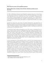 Israeli policies and practices in occupied East Jerusalem - Palestine ...