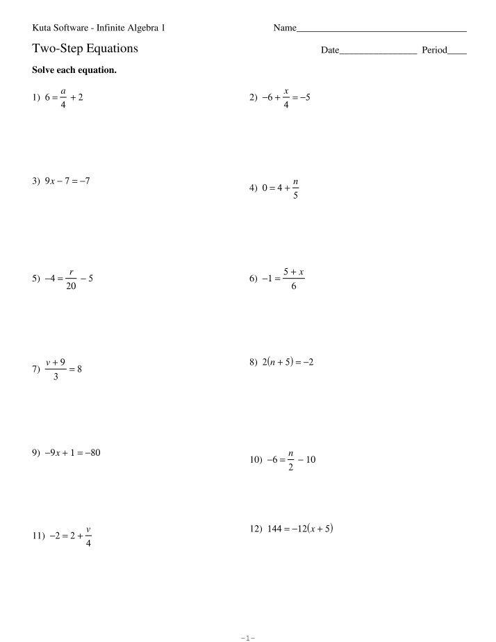 Comfortable Kuta Software Infinite Algebra 1 Combining Like Terms ...