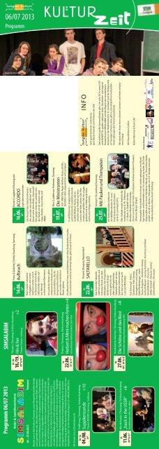 Monatsprogramm Juni/Juli 2013 - Lungauer Kulturvereinigung