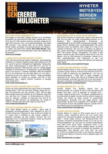 Nyhetsbrev fra november 2012 - visitBergen