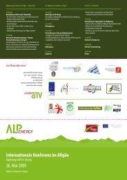 Alp Energy: Flyer zur Veranstaltung