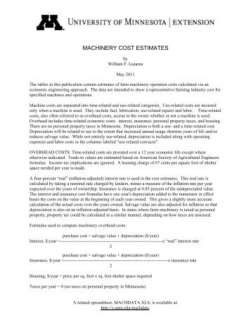 machinery cost estimates - National Ag Risk Education Library ...