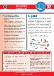 Sigaranın Zararları Hakkında Bilgi Notu, Sağlık Bakanlığı
